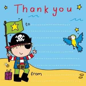Pirate party thank you note